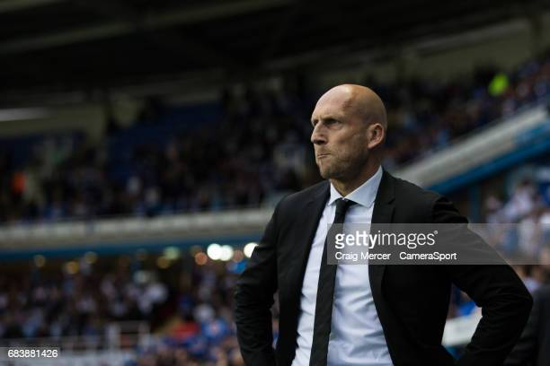 Reading manager Jaap Stam during the Sky Bet Championship PlayOff Semi Final Second Leg match between Reading and Fulham at Madejski Stadium on May...