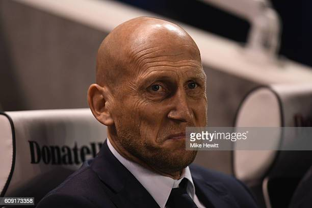 Reading manager Jaap Stam looks on during the EFL Cup Third Round match between Brighton Hove Albion and Reading at Amex Stadium on September 20 2016...