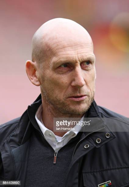 Reading manager Jaap Stam walks on the pitch before the Sky Bet Championship match between Sunderland and Reading at Stadium of Light on December 2...