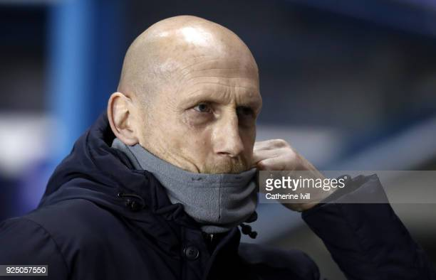 Reading manager Japp Stam ahead of the Sky Bet Championship match between Reading and Sheffield United at Madejski Stadium on February 27 2018 in...