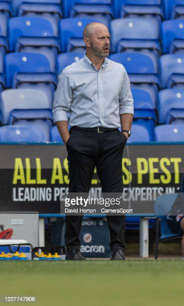 Reading manager Mark Bowen during the Sky Bet Championship match between Reading and Swansea City at Madejski Stadium on July 22, 2020 in Reading,...