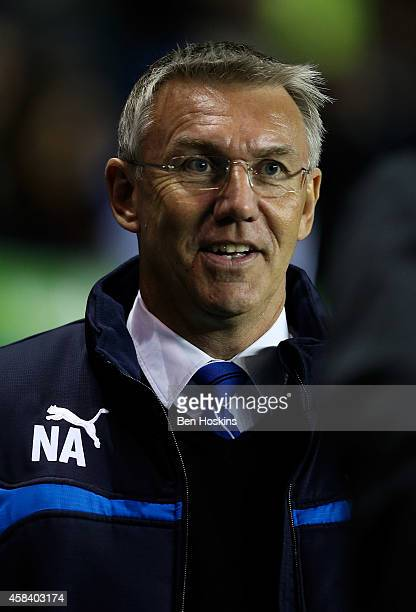 Reading manager Nigel Adkins looks on ahead of the Sky Bet Championship match between Reading and Rotherham United at Madejski Stadium on November 04...