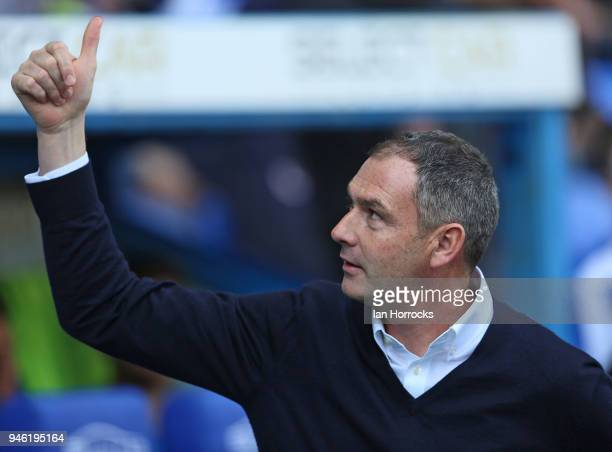 Reading manager Paul Clement during the Sky Bet Championship match between Reading and Sunderland at Madejski Stadium on April 14 2018 in Reading...