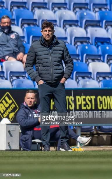 Reading manager Veljko Paunovi during the Sky Bet Championship match between Reading and Swansea City at Madejski Stadium on April 25, 2021 in...