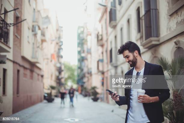 Reading messages on a mobile phone