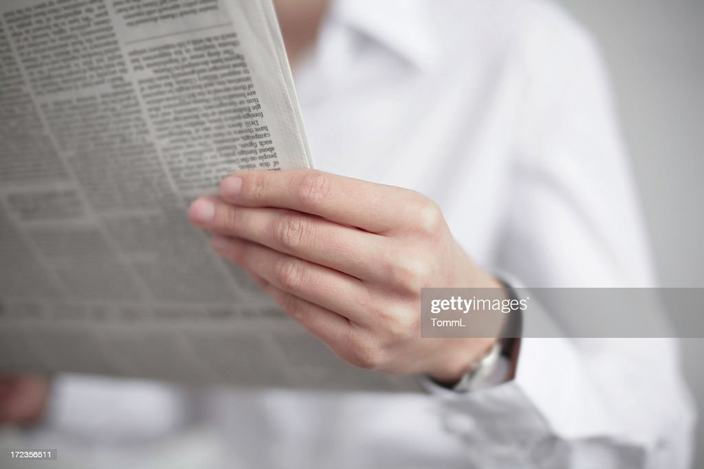 reading news : Stock Photo