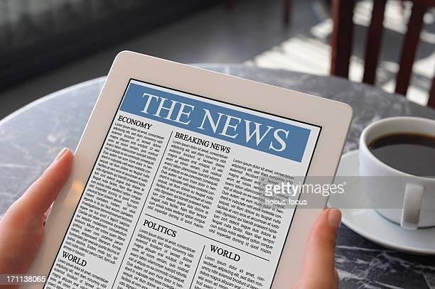 Ler notícias com tablet pc
