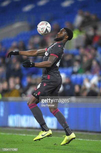 Reading player Tyler Blackett in action during the FA Cup Fourth Round Replay match between Cardiff City and Reading at Cardiff City Stadium on...