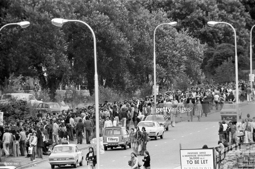 Reading Pop festival, 1975 : News Photo