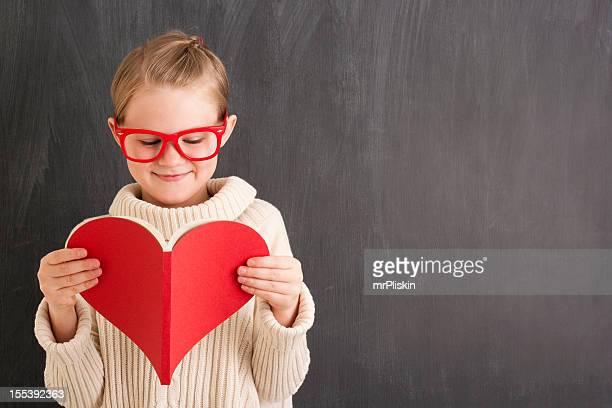 Lesen roten herzförmigen buchen