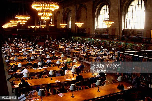 reading room at new york public library - new york public library stock pictures, royalty-free photos & images