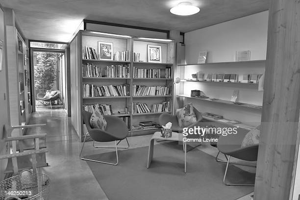 A reading room at the Maggie's Centre at Charing Cross Hospital in London circa 2010 The building was designed by Rogers Stirk Harbour Partners and...