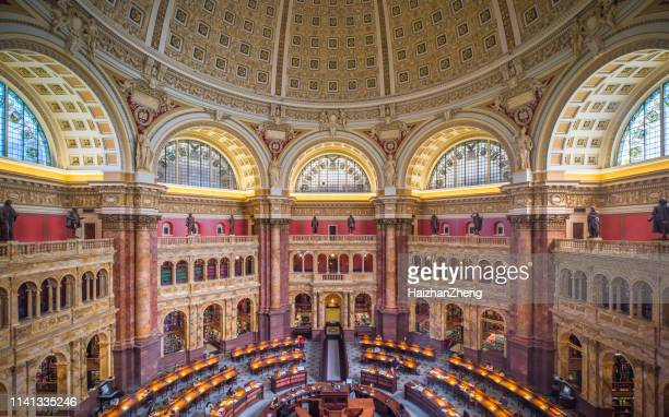 reading room interior of the library of congress,washington dc - house of representatives stock pictures, royalty-free photos & images