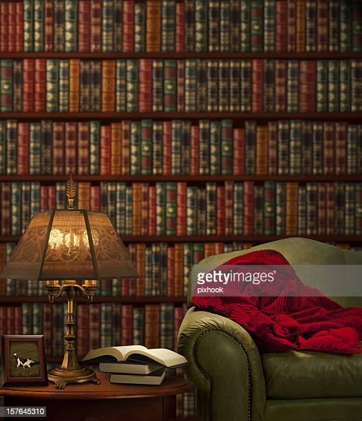 reading room - armstoel stockfoto's en -beelden