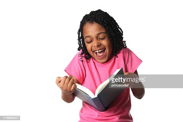 reading something funny - funny black girl stock photos and pictures