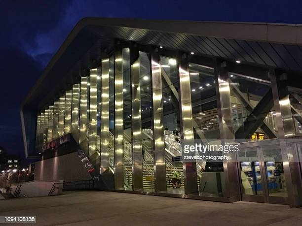 reading station at night - stevebphotography stock pictures, royalty-free photos & images