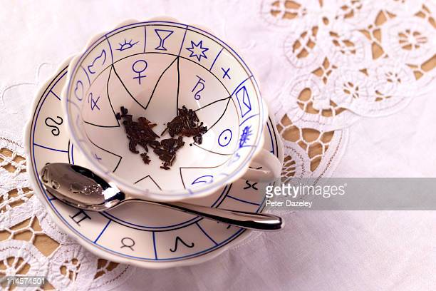 reading tea leaves - fortune telling stock pictures, royalty-free photos & images