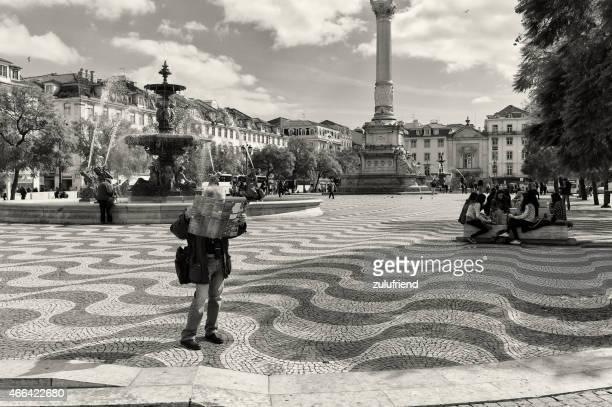 マップをセカテドラルリーティング - ロッシオ広場 ストックフォトと画像
