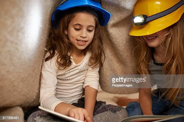 Reading their favorite stories