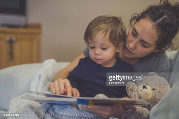 Reading time with Mom