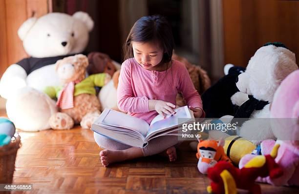 Reading with toys