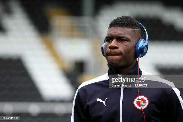 Reading's Aaron Tshibola on a pitch walk before the game