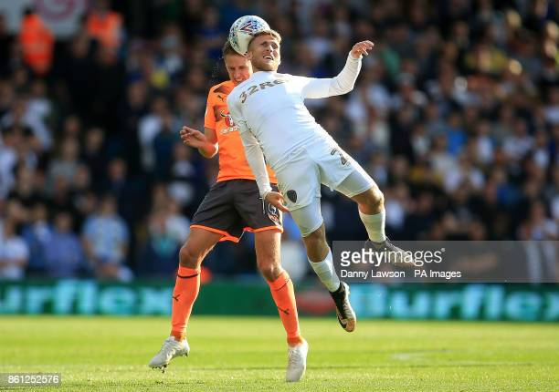 Reading's David Edwards and Leeds United's Samuel Saiz battle for the ball during the Sky Bet Championship match at Elland Road Leeds