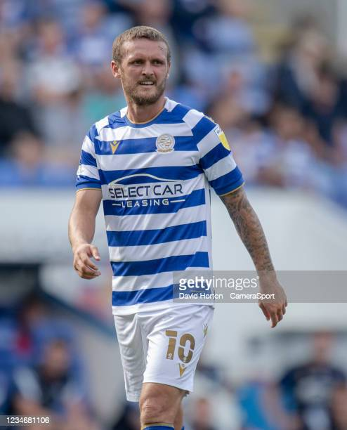 Reading's John Swift during the Sky Bet Championship match between Reading and Preston North End at Madejski Stadium on August 14, 2021 in Reading,...