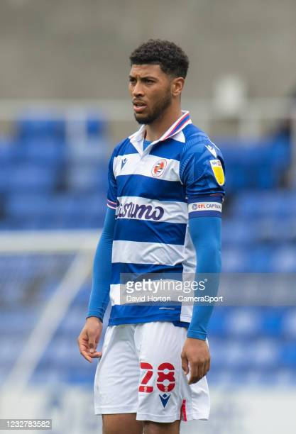 Reading's Josh Laurent during the Sky Bet Championship match between Reading and Huddersfield Town at Madejski Stadium on May 8, 2021 in Reading,...