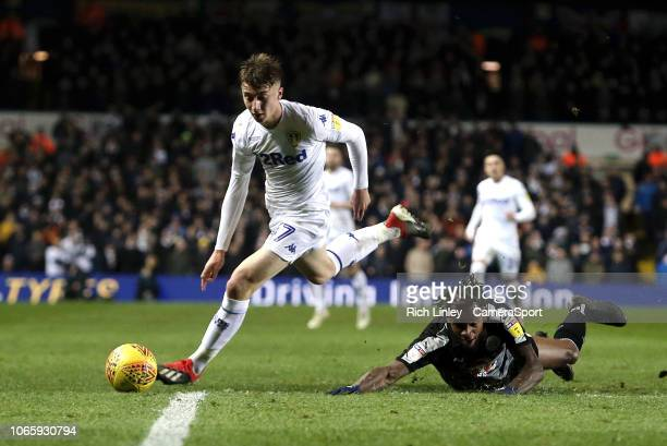 Reading's Leandro Bacuna is fouled by Leeds United's Jack Clarke during the Sky Bet Championship match between Leeds United and Reading at Elland...
