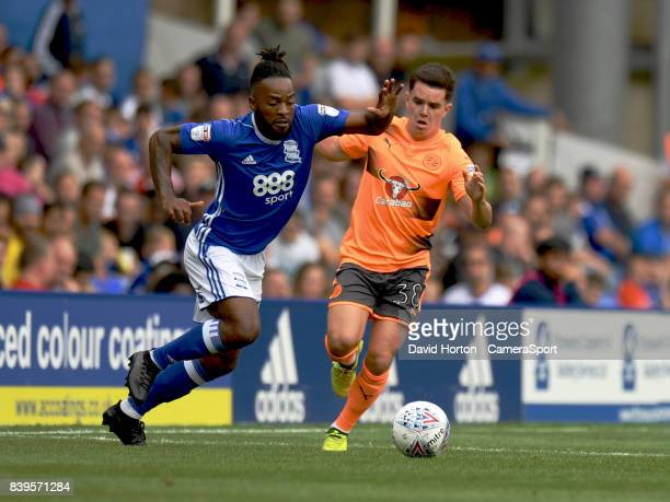 Reading's Liam Kelly vies for possession with Birmingham City's Jacques Maghoma during the Sky Bet Championship match between Birmingham City and...