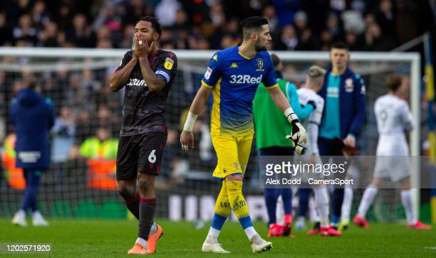 Reading's Liam Moore reacts during the Sky Bet Championship match between Leeds United and Reading at Elland Road on February 22 2020 in Leeds England