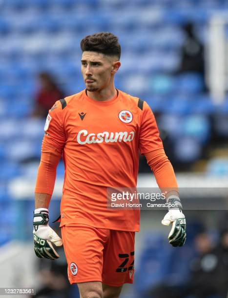 Reading's Luke Southwood during the Sky Bet Championship match between Reading and Huddersfield Town at Madejski Stadium on May 8, 2021 in Reading,...