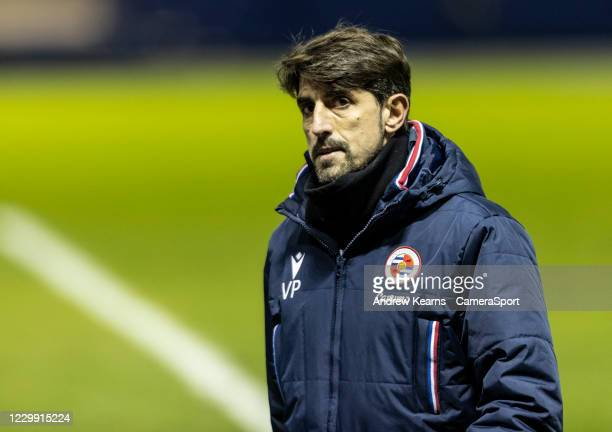 Reading's manager Veljko Paunovic pictured at the end of the match during the Sky Bet Championship match between Sheffield Wednesday and Reading at...