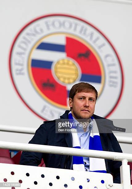 Reading's new owner Anton Zingarevich looks on prior to the npower Championship match between Reading and Leeds United at The Madejski Stadium on...