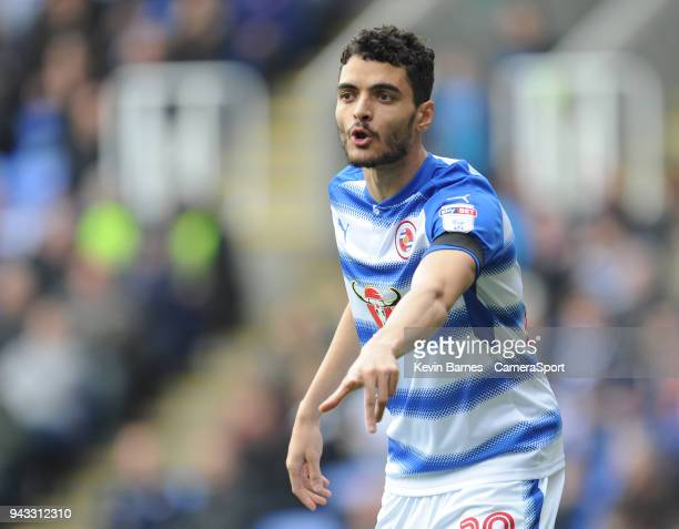 Reading's Tiago Ilori during the Sky Bet Championship match between Reading and Preston North End at Madejski Stadium on April 7 2018 in Reading...