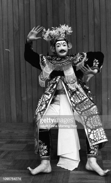 Ready for a breath of Bali Balinese dancer Krystyna Nowak giving his best performance in the City Hall Central 25MAR77