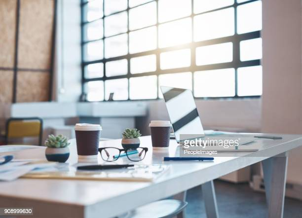 ready for a new business day - empty office stock pictures, royalty-free photos & images