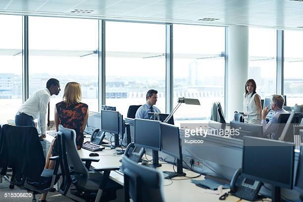 Prêt pour une brève réunion du personnel