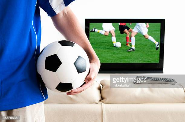 Ready for a soccer match on the tv