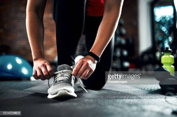 ready for a workout - lace fastener stock pictures, royalty-free photos & images