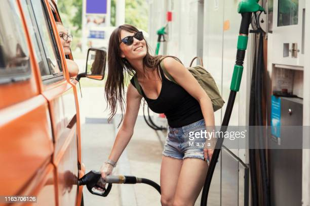 ready for advetures - gas station stock pictures, royalty-free photos & images