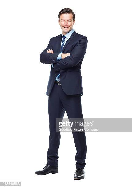 ready for anything in the corporate world! - white background stockfoto's en -beelden