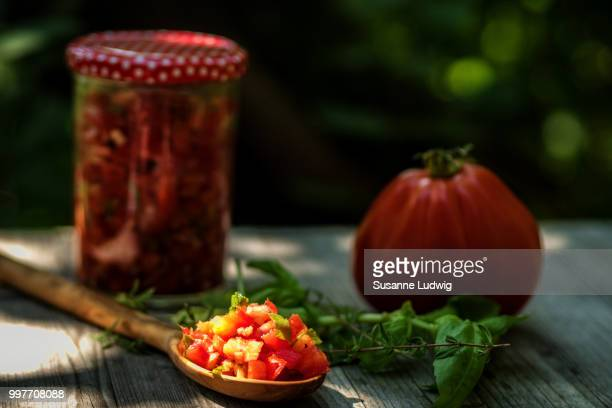 ready for bruschetta - susanne ludwig stock pictures, royalty-free photos & images