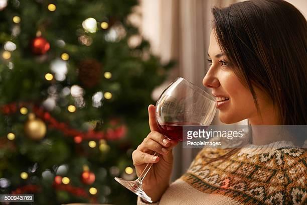 Bereit für Christmas.now für einige Wein