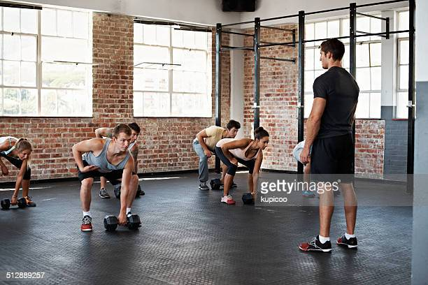 ready for the big lift - circuit training stock photos and pictures