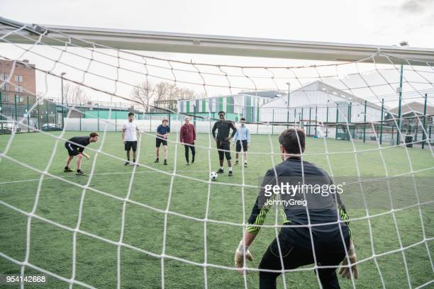 ready for the penalty kick - scoring a goal stock pictures, royalty-free photos & images