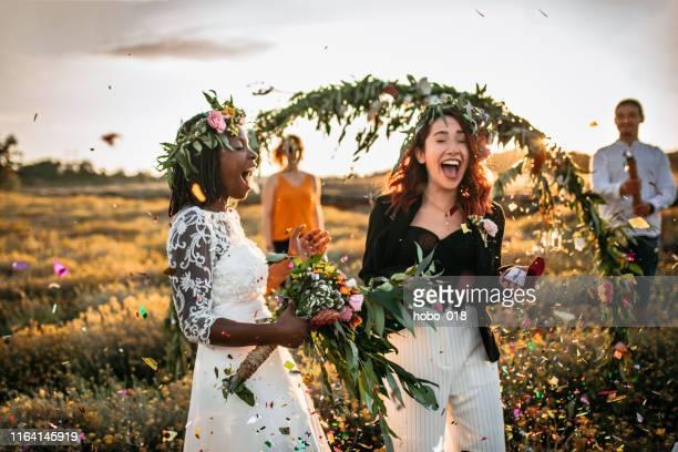 pronto per la festa di matrimonio - cerimonia di nozze foto e immagini stock