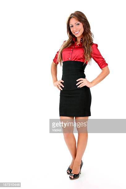 ready for work - high heels short skirts stock photos and pictures