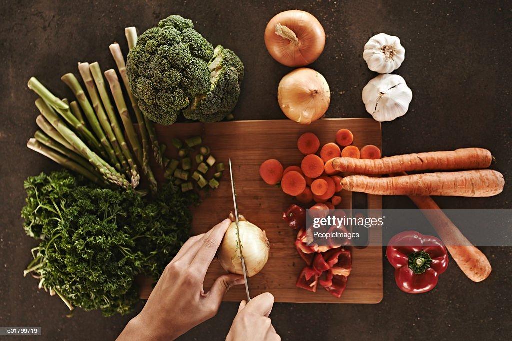 Ready, set, chop! : Stock Photo